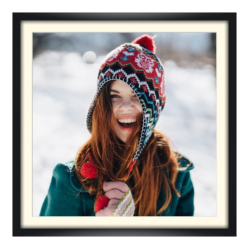 Foto im Holzbilderrahmen in schwarz im Format 24 x 18 cm