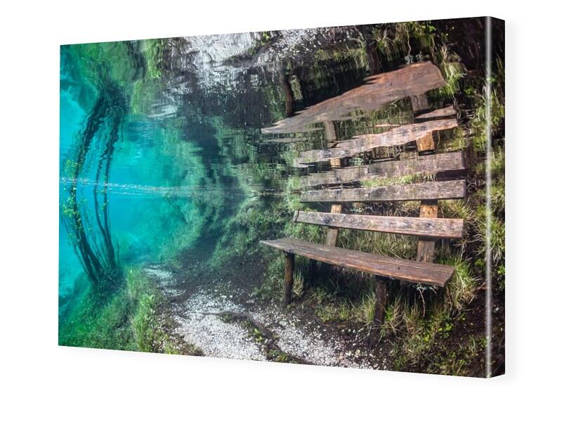 Bank Unterwasser Bild Foto auf Leinwand im Form...