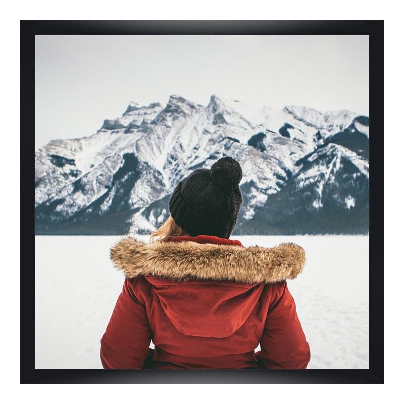 Foto im Holzbilderrahmen in schwarz im Format 1...