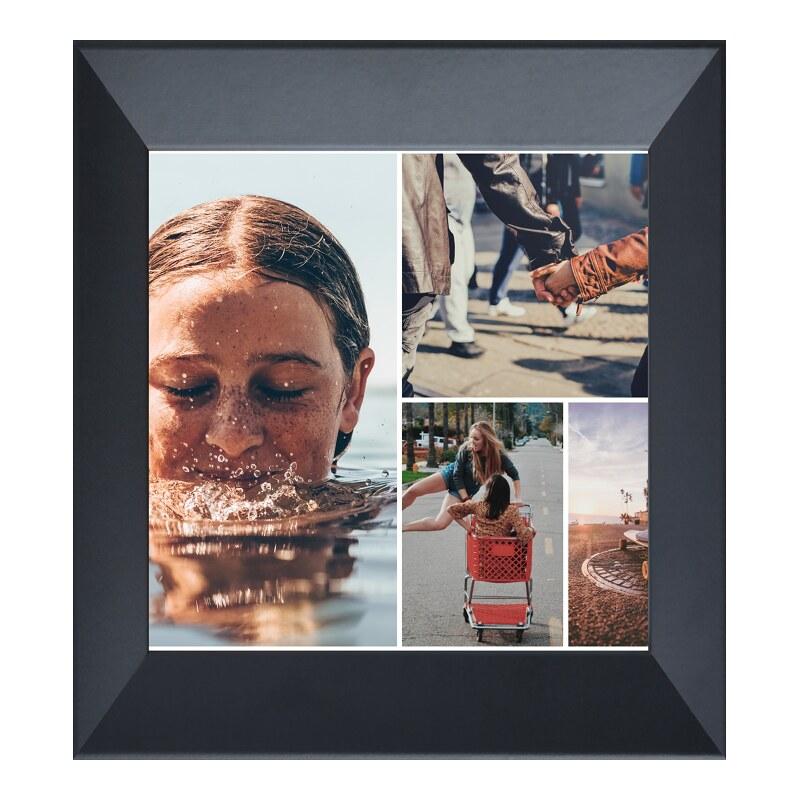 Fotorahmen Holz in schwarz im Format 18 x 13 cm