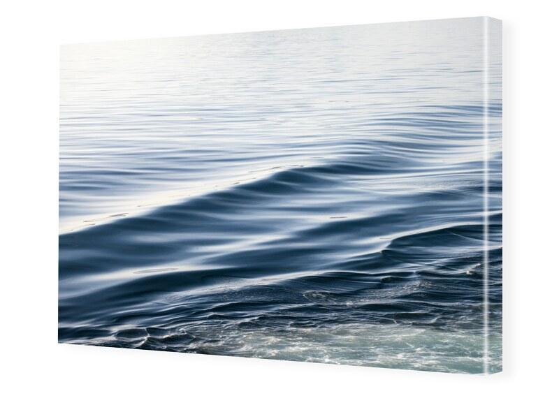 Blue Waves Fotoleinwand im Format 90 x 60 cm