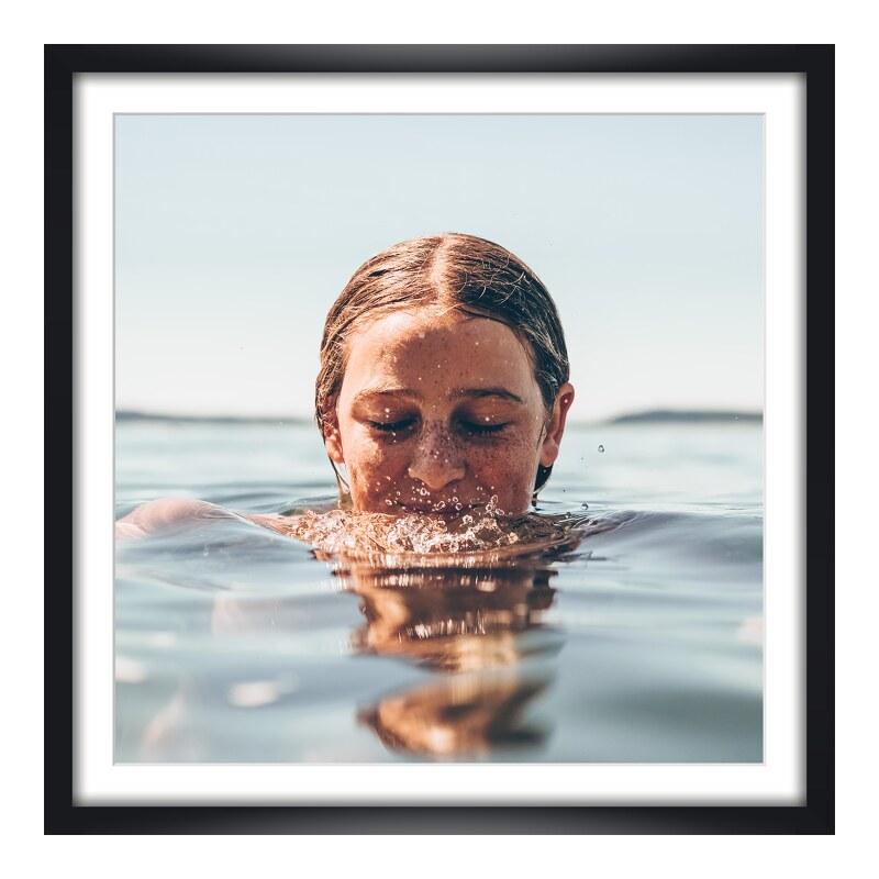 Foto im Holzbilderrahmen in schwarz im Format 5...