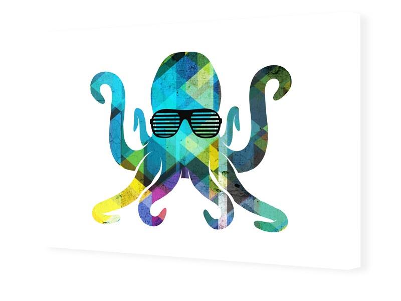 Oktopus Bild Leinwand drucken im Format 224 x 1...