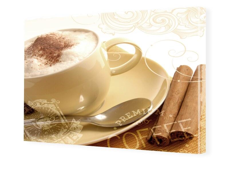 Bild Cafe Foto auf Leinwand im Format 80 x 60 cm