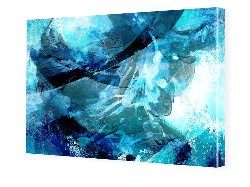 farbiges Abstrakt Leinwand drucken im Format 17...