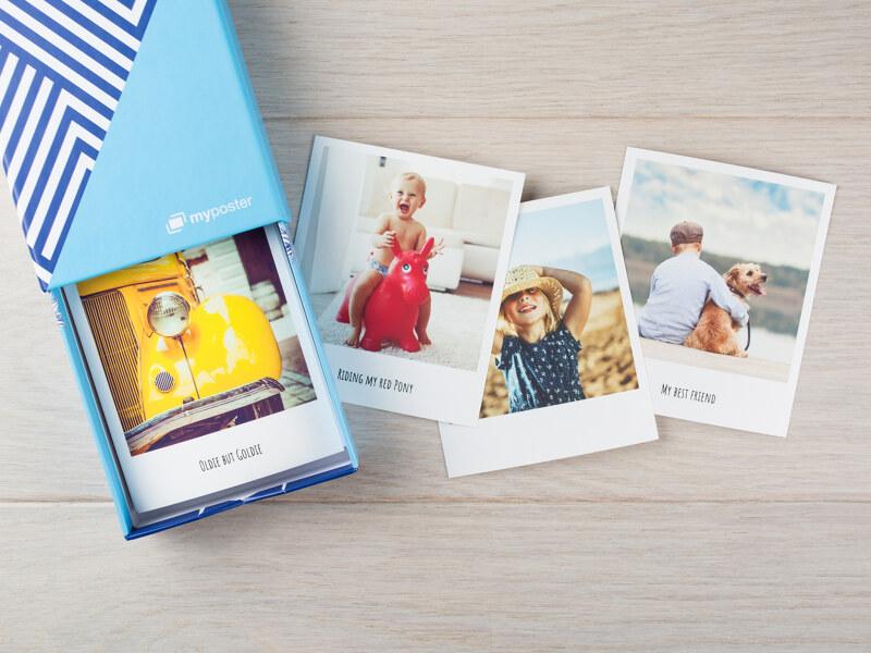Kleine Bilderbox mit 30 Fotos in 13 x 9 cm