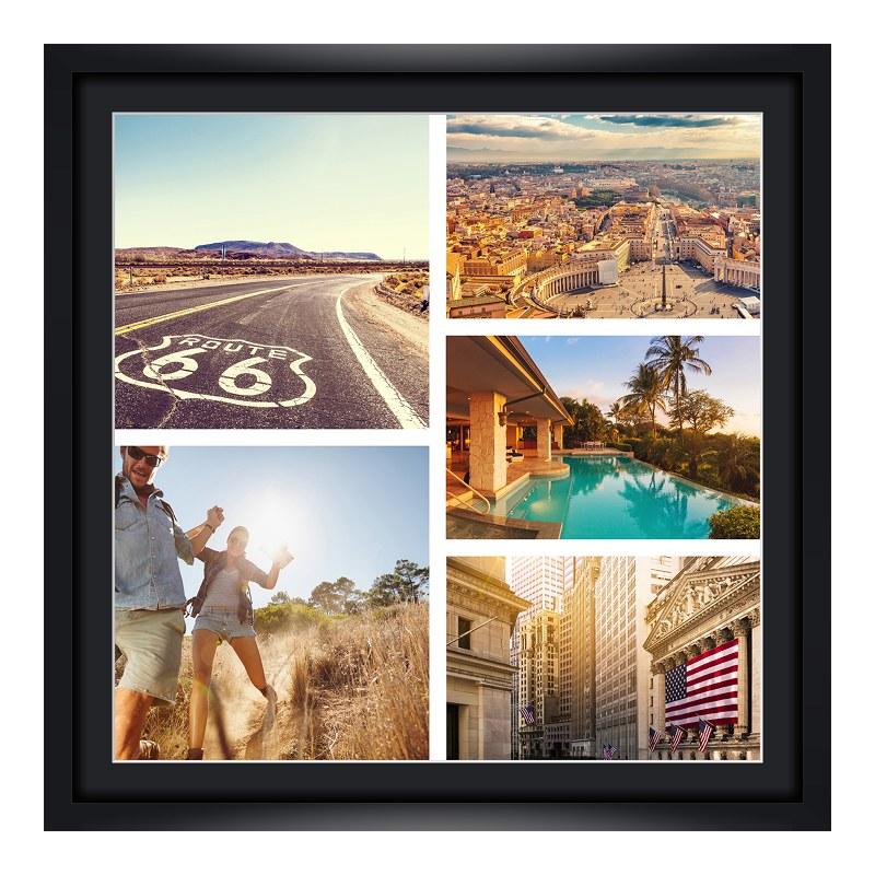 Bilderrahmen aus Holz in schwarz als Panorama im Format 100 x 25 cm