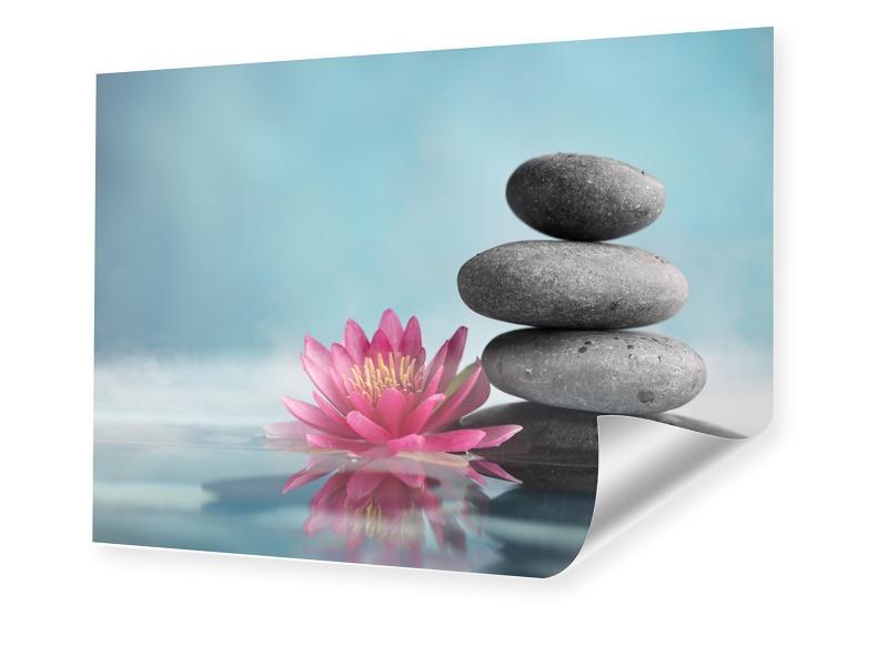 Wellness Bild Photodruck im Format 80 x 45 cm