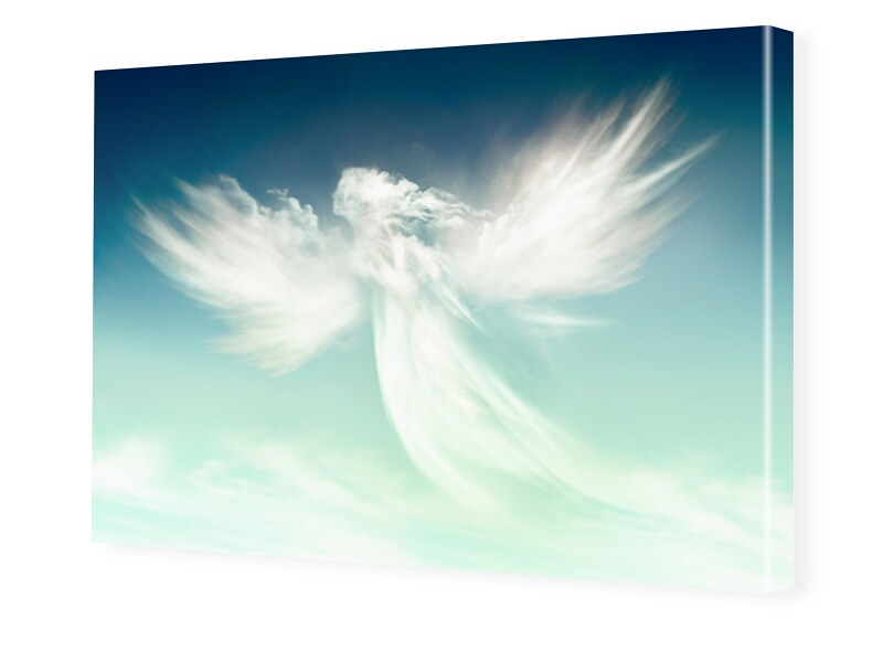 Engel Motiv Fotoleinwand im Format 60 x 40 cm
