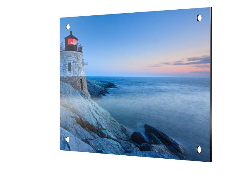 Leuchtturm Motiv Foto auf Platte quadratisch im Format 90 x 90 cm