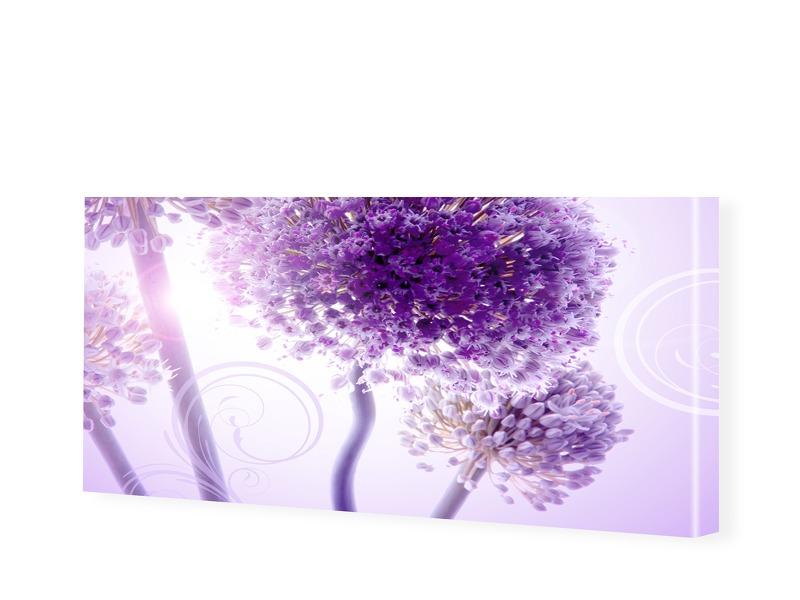 Blumenposter Leinwandbild als Panorama im Forma...