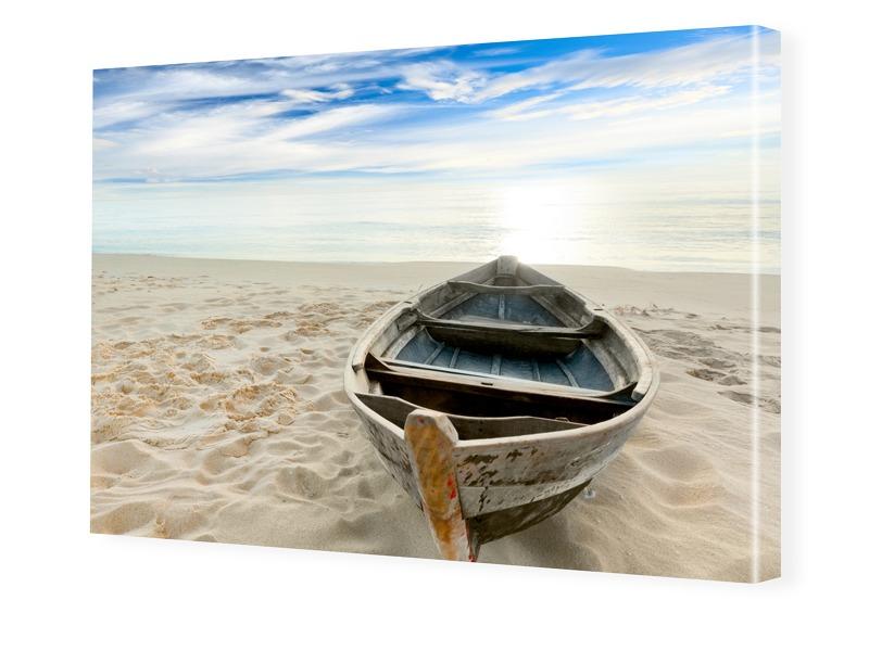 Strandbild Foto auf Leinwand im Format 80 x 60 cm