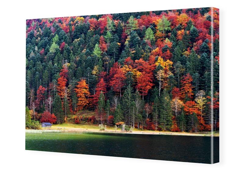 Herbstlaub Foto auf Leinwand im Format 20 x 15 cm