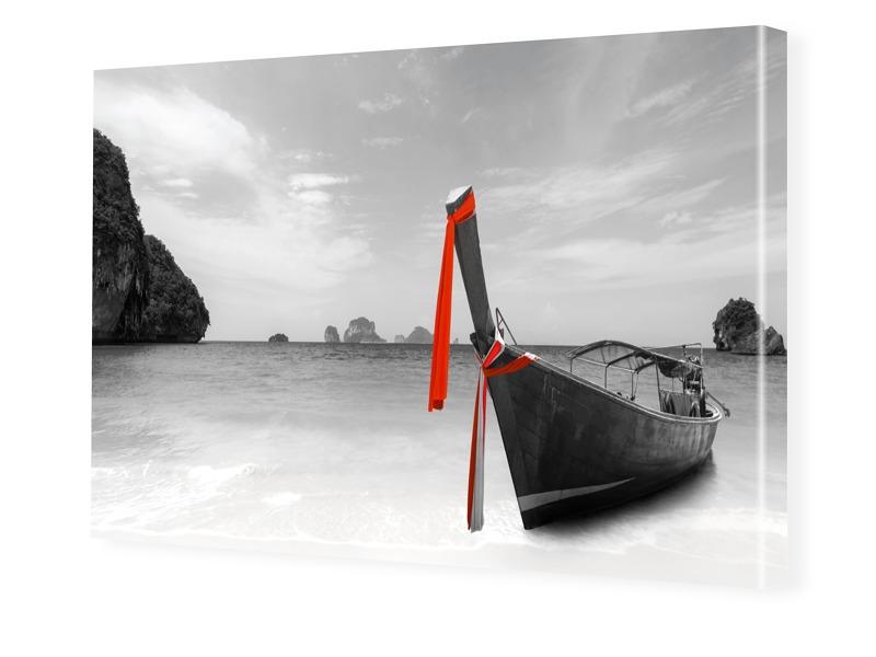 Boote Strand Thailand Bilder auf Leinwand im Fo...