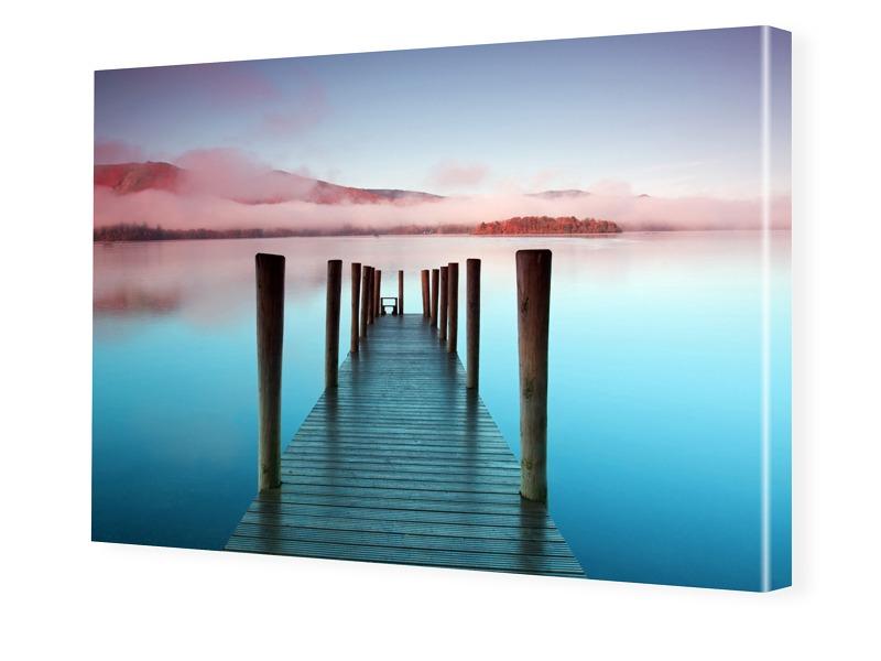 See Bilder Foto auf Leinwand im Format 80 x 60 cm
