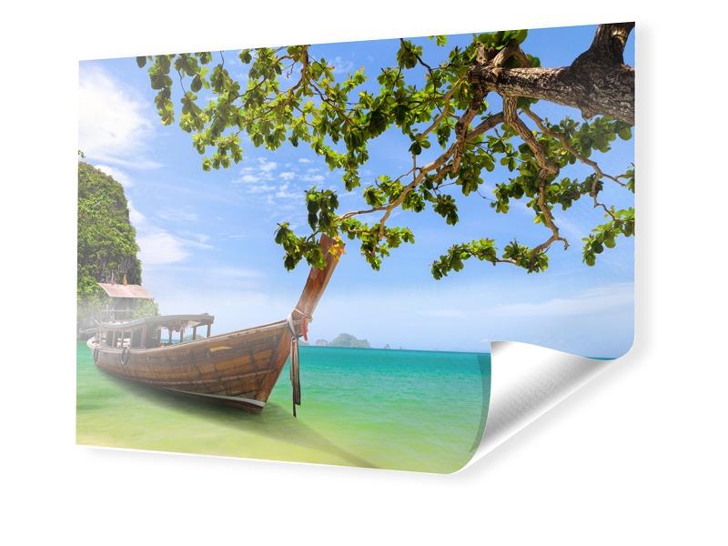 Boote am Strand Fotobanner im Format 150 x 100 cm
