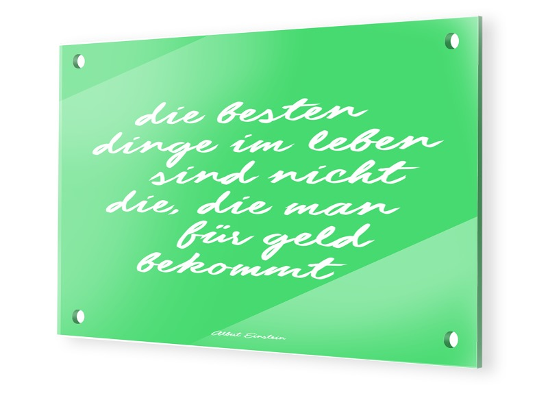 Einstein Zitat Glasbilder im Format 30 x 20 cm