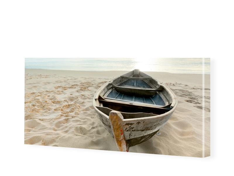 Strandbild Leinwandbild als Panorama im Format ...