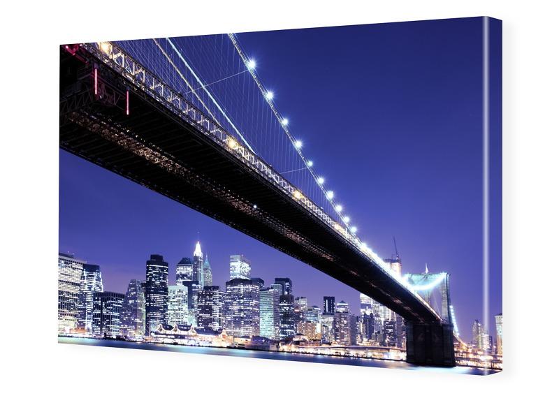 Brooklyn Bridge schwarz weiß Bilder auf Leinwan...