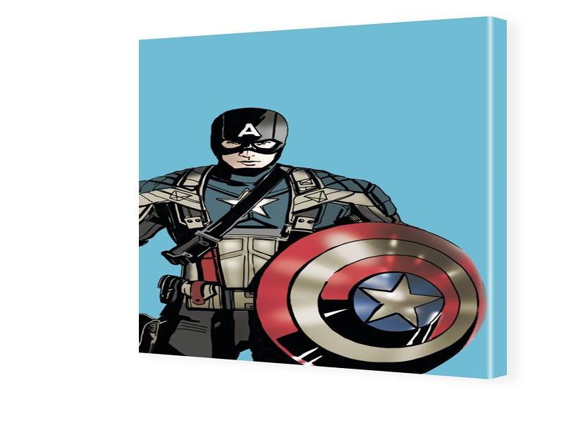 Captain America Bild Fotos auf Leinwand quadrat...