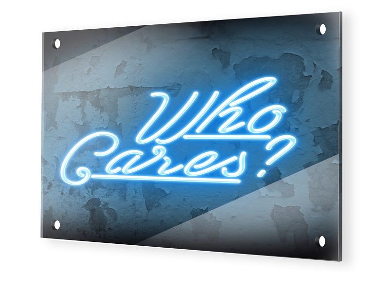 Who Cares Glasbilder im Format 30 x 20 cm