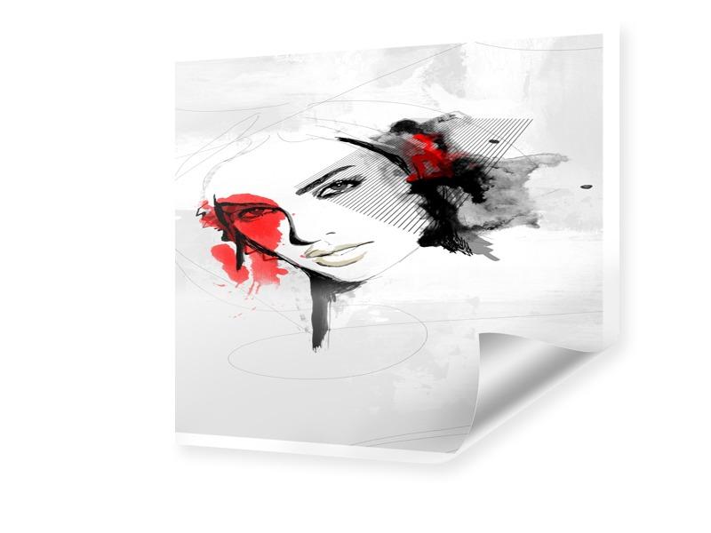 Frau Porträt Design Foto vergrößern quadratisch...