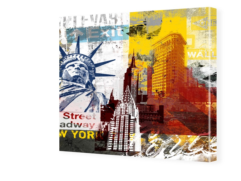 Bild New York Modern Fotos auf Leinwand quadrat...
