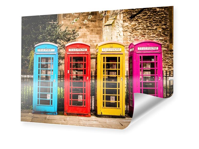 Englische Telefonzelle Poster im Format 80 x 60 cm