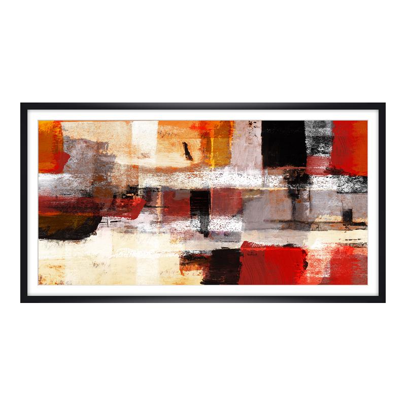 abstraktes Motiv Foto im Holzbilderrahmen in schwarz im Format 24 x 18 cm
