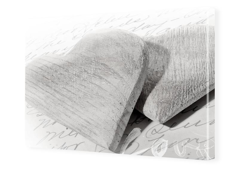 Herzen Bild Foto auf Leinwand im Format 60 x 45 cm