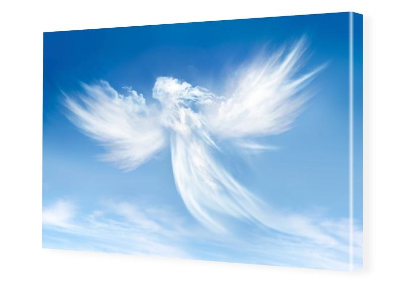 Engel Motiv Foto auf Leinwand im Format 80 x 60 cm
