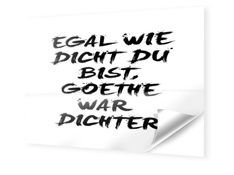 Goethe Spruch Fotos auf Folie im Format 90 x 60 cm