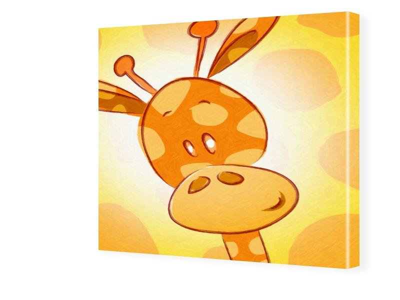 Kinderzimmerbild Giraffe Fotos auf Leinwand qua...