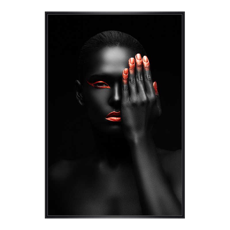 Fashion Porträt Foto im Rahmen aus Kunststoff i...