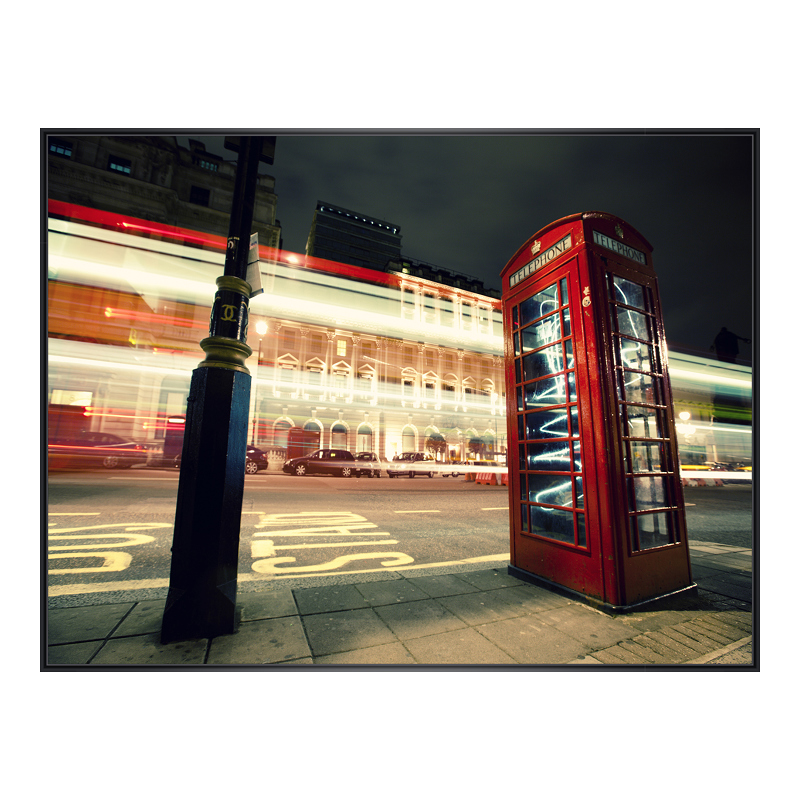 Telefonzelle Bild Poster im Kunststoffrahmen in...