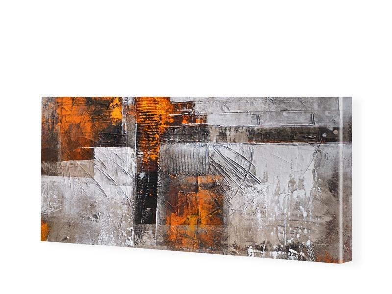 Abstrakt Struktur Leinwand Bild als Panorama im...