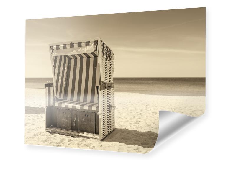 Strandkorb Motiv Posterdruck im Format 30 x 20 cm