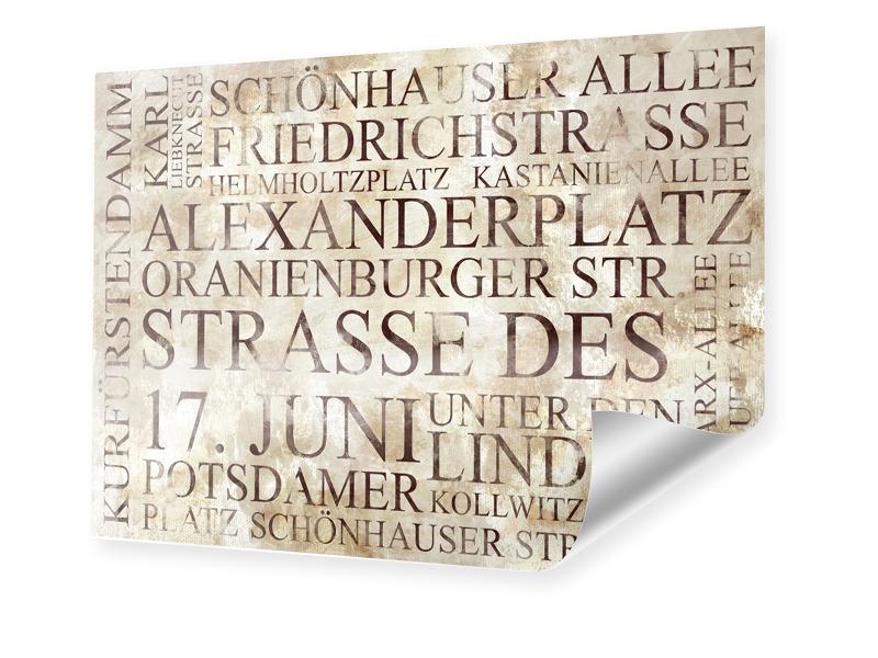 Berlin Poster Poster im Format 80 x 60 cm