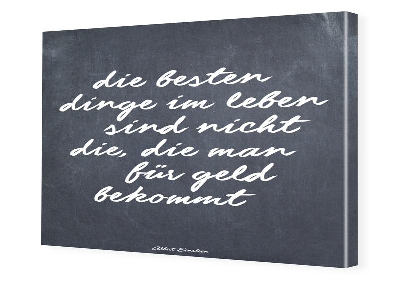 Einstein Zitat Fotoleinwand im Format 90 x 60 cm