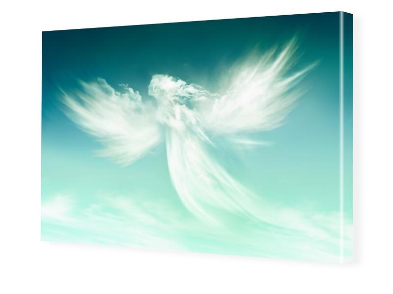Engel Motiv Fotoleinwand im Format 90 x 60 cm