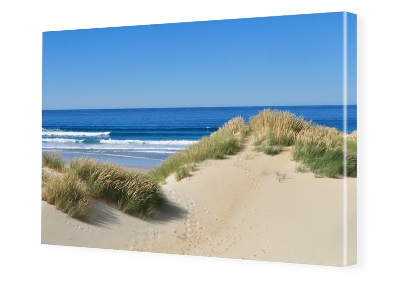 Stranddüne Leinwand drucken im Format 224 x 126 cm
