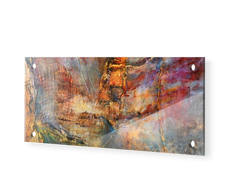 abstrakter Druck Acrylglas Druck als Panorama i...