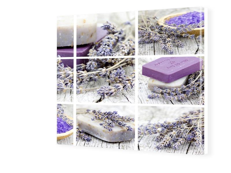 Lavendel Poster Fotos auf Leinwand quadratisch ...