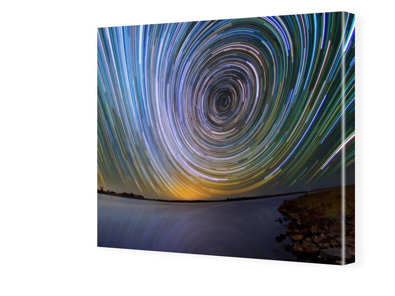 Sterne Bild Fotos auf Leinwand quadratisch im F...