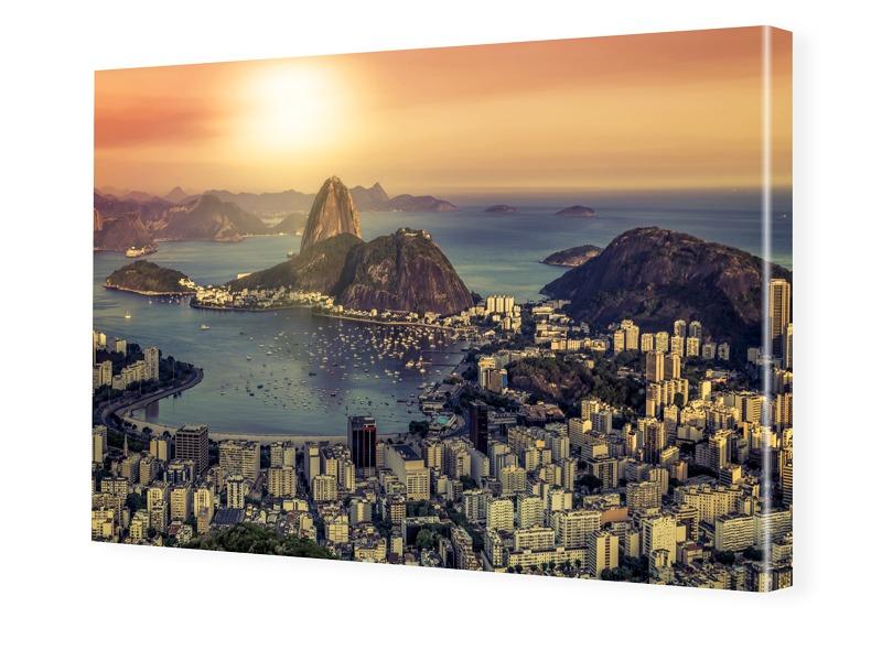 Rio Panorama Foto auf Leinwand im Format 80 x 6...