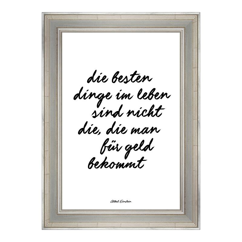 Einstein Zitat Posterdruck im Bilderrahmen Holz...