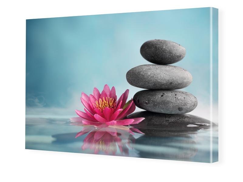 Wellness Bild Fotoleinwand im Format 75 x 50 cm