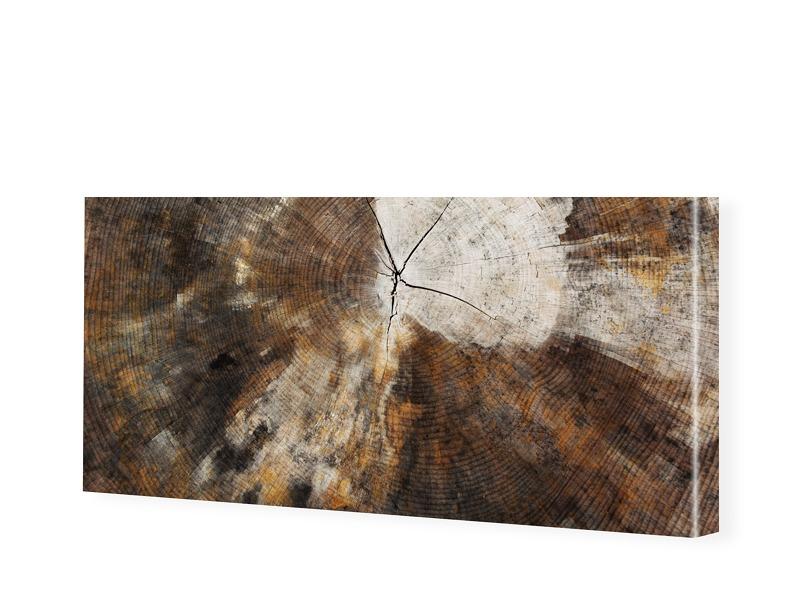 Holz Motiv Leinwandbild als Panorama im Format ...