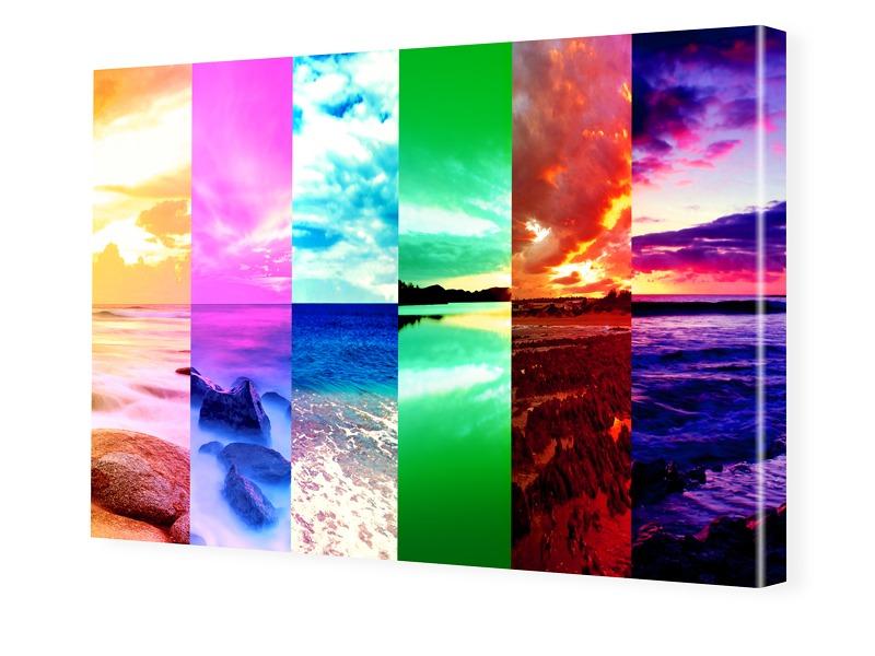 Natur Collage Fotoleinwand im Format 90 x 60 cm