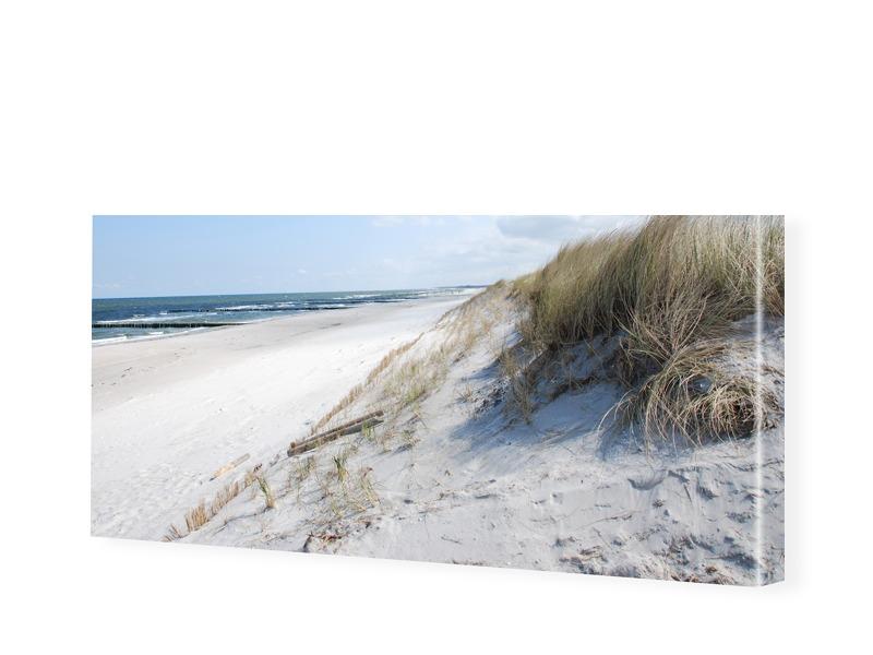 Strandmotiv Leinwanddruck als Panorama im Forma...